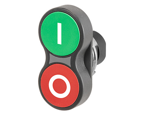 Illuminated twin push-buttons Ø 22