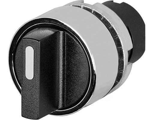 Non-illuminated knob selector switches Ø 22 - metal bezel