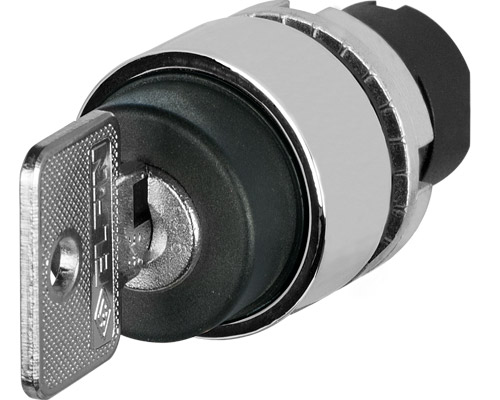 Key selector switches Ø 22 -metal bezel