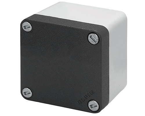 Aluminium push-button enclosures M10 85x85 mm