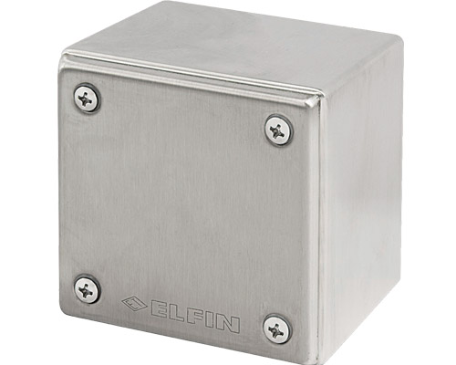 Stainless steel push-button enclosures 82x82 mm