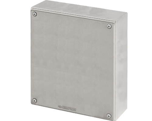 Stainless steel push-button enclosures 230x260 mm