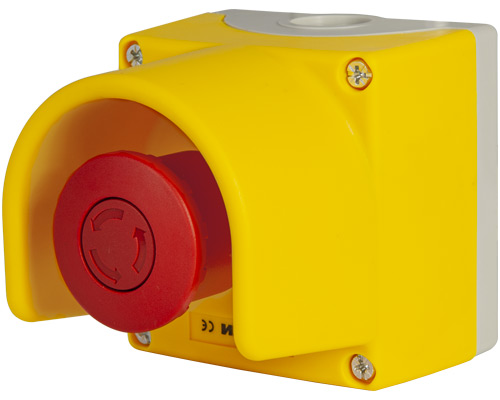 Emergency stop push-button enclosure 85x85 mm