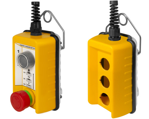 Pendant push-button stations, remote control